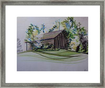 Old Barn At Wason Pond Framed Print by Sean Connolly