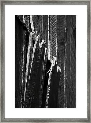 Barn Boards Black And White Framed Print
