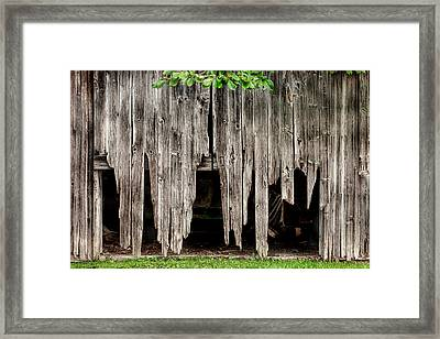 Barn Boards - Rustic Decor Framed Print by Gary Heller