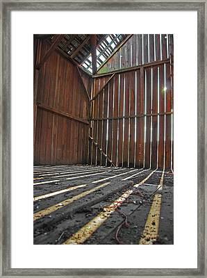 Framed Print featuring the photograph Barn Bones I by Jani Freimann