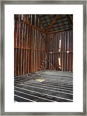 Framed Print featuring the photograph Barn Bones II by Jani Freimann