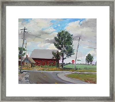 Barn By Lockport Rd Framed Print by Ylli Haruni