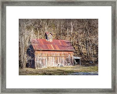 Barn By The Bluffs Framed Print