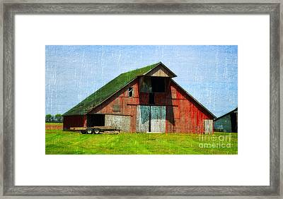 Barn - Central Illinois - Luther Fine Art Framed Print by Luther Fine Art