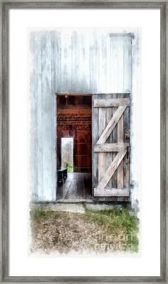 Barn Dance Phone Case Framed Print by Edward Fielding