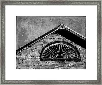 Barn Detail - Black And White Framed Print by Joseph Skompski