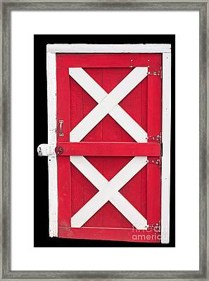 Framed Print featuring the photograph Barn Door by Gunter Nezhoda