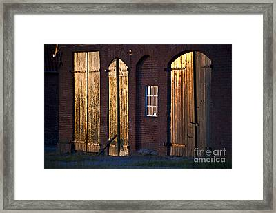 Barn Door Lighting Framed Print by Heiko Koehrer-Wagner