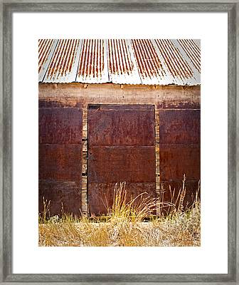 Barn Door Picture Framed Print by Julie Magers Soulen