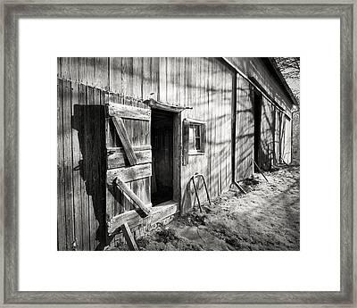 Barn Doors Framed Print