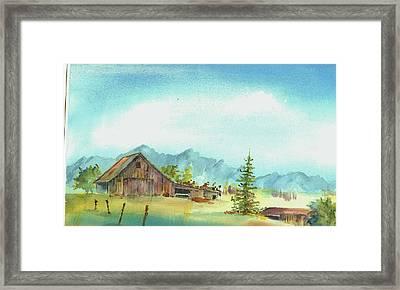 Barn--east Of The Sierra's Framed Print by David Patrick