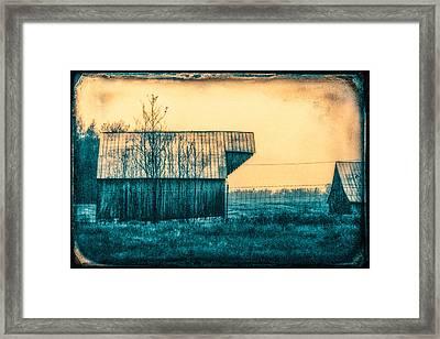 Barn Faceoff Framed Print
