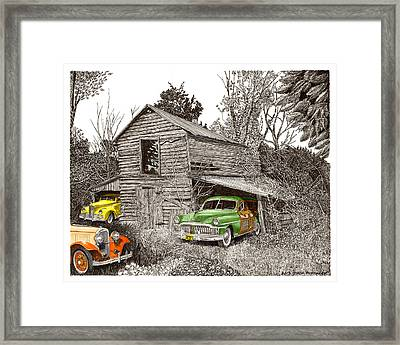 Barn Finds Classic Cars Framed Print by Jack Pumphrey