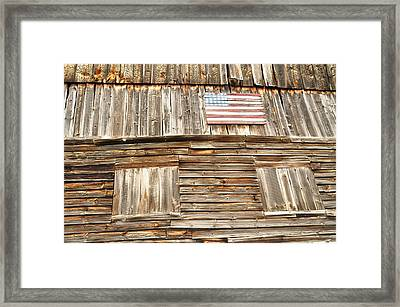 Barn Flag Framed Print