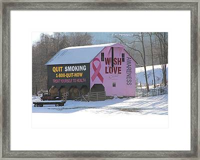 Barn For The Cure Framed Print by Carolyn Postelwait