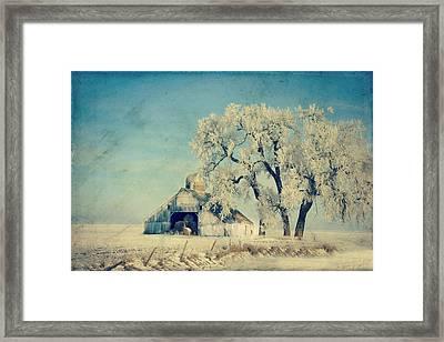 Winter Time Blues Framed Print