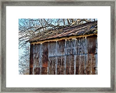 Barn Ghost Sign 1 Framed Print