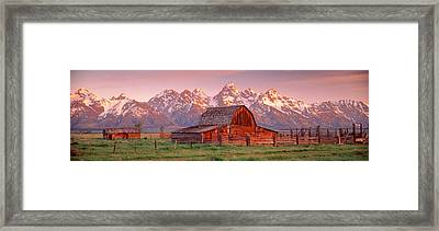 Barn Grand Teton National Park Wy Usa Framed Print by Panoramic Images