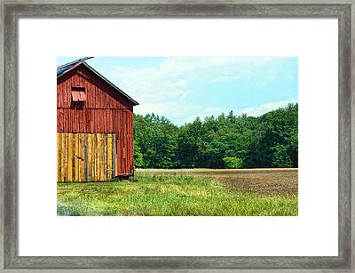 Barn Green Framed Print by Kenneth Feliciano