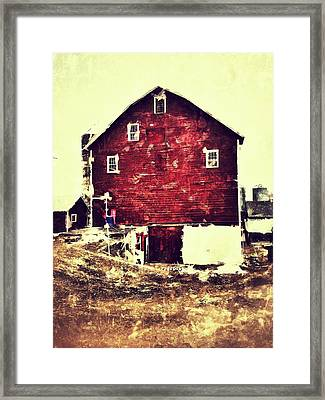 Barn Framed Print by H James Hoff