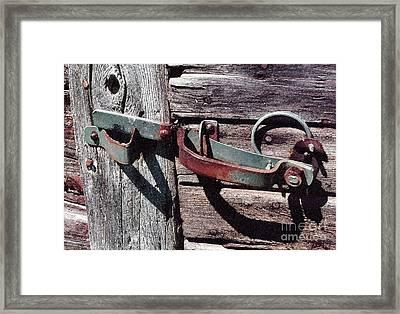 Barn Hinge Framed Print by Susan Crossman Buscho