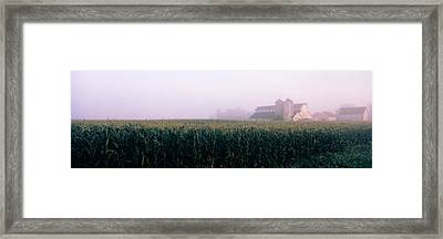 Barn In A Field, Illinois, Usa Framed Print