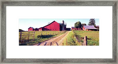 Barn In A Field, Pennsylvania Dutch Framed Print by Panoramic Images