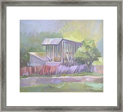 Barn In Agarcia Framed Print by Filip Mihail