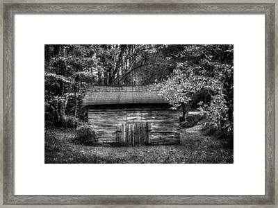 Barn In Black And White Framed Print