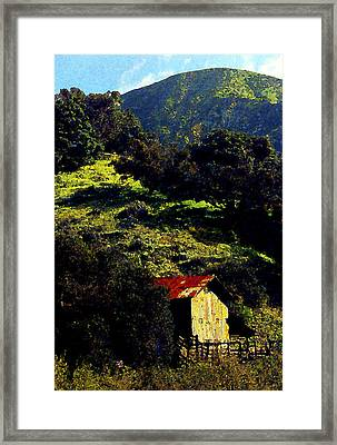 Barn In Grimes Canyon Framed Print by Ron Regalado