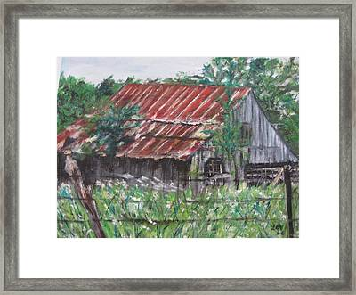 Barn In Montana Framed Print
