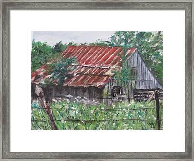 Barn In Montana Framed Print