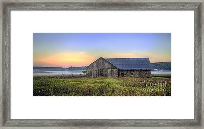 Barn In Northern Michigan Framed Print by Twenty Two North Photography