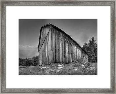 Barn In Port Oneida Framed Print by Twenty Two North Photography