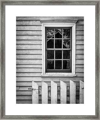 Barn In Refelction Framed Print by Steve Stanger
