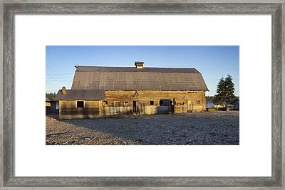 Barn In Rural Washington Framed Print by Cathy Anderson