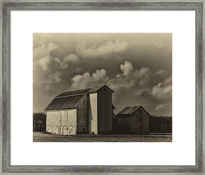Barn In Sepia Framed Print