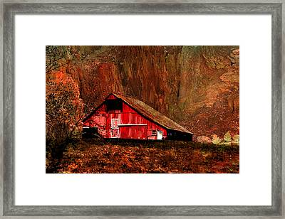 Barn In The Canyon Framed Print by EricaMaxine  Price