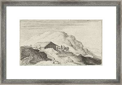 Barn In The Dunes, Gillis Van Scheyndel Framed Print by Gillis Van Scheyndel (i)