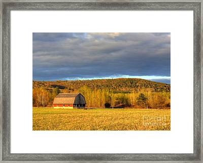 Barn In The Dunes Framed Print by Twenty Two North Photography