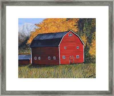 Barn In The Fall Framed Print