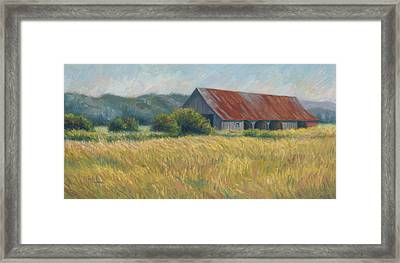 Barn In The Field Framed Print
