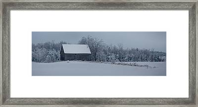 Barn In The Long Wait Framed Print