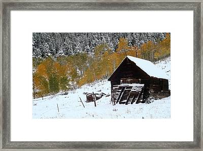 Barn In The San Juan Mountains Framed Print by Jetson Nguyen