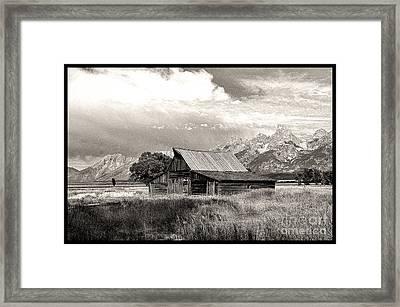 Barn In The Tetons Framed Print by Robert Kleppin