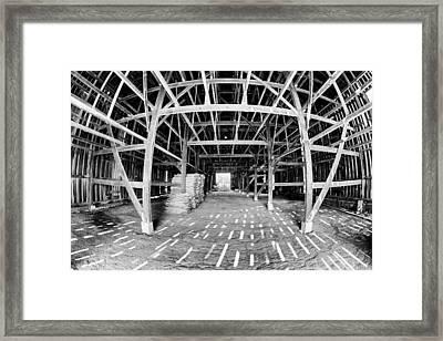 Barn Inside Framed Print