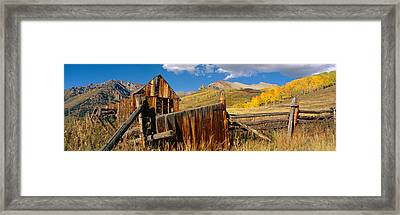 Barn, Last Dollar Road, Telluride Framed Print by Panoramic Images