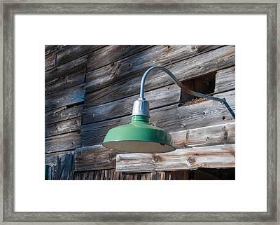 Barn Light Framed Print by Guy Whiteley