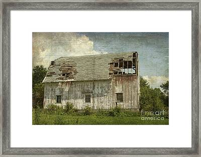Barn - Lonely And Abandoned - Luther Fine Art Framed Print by Luther Fine Art