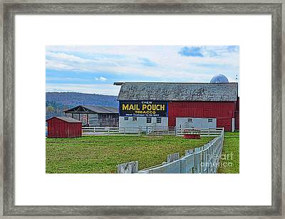 Barn - Mail Pouch Tobacco Framed Print by Paul Ward